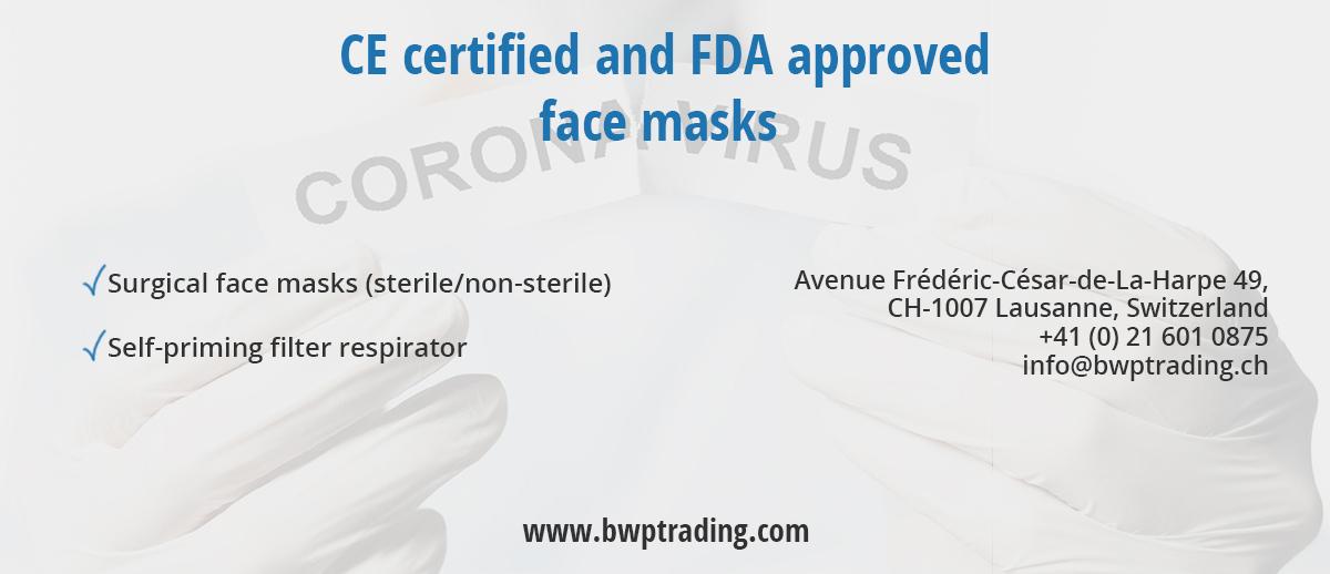 Helping fight coronavirus. Face masks for Europe